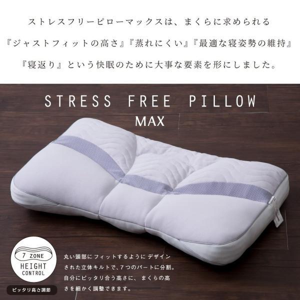 枕 ストレスフリーピロー MAX マックス 63×40cm じぶんの力で体をケアする 光電子リピュア Repure 自己回復力を高める|futontanaka|02