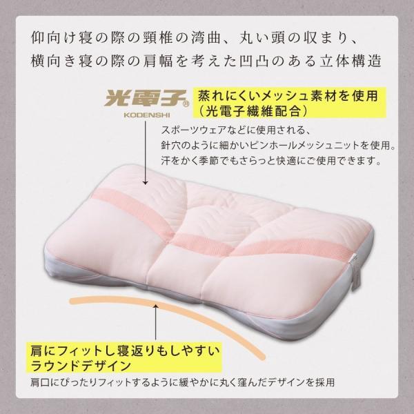 枕 ストレスフリーピロー MAX マックス 63×40cm じぶんの力で体をケアする 光電子リピュア Repure 自己回復力を高める|futontanaka|03