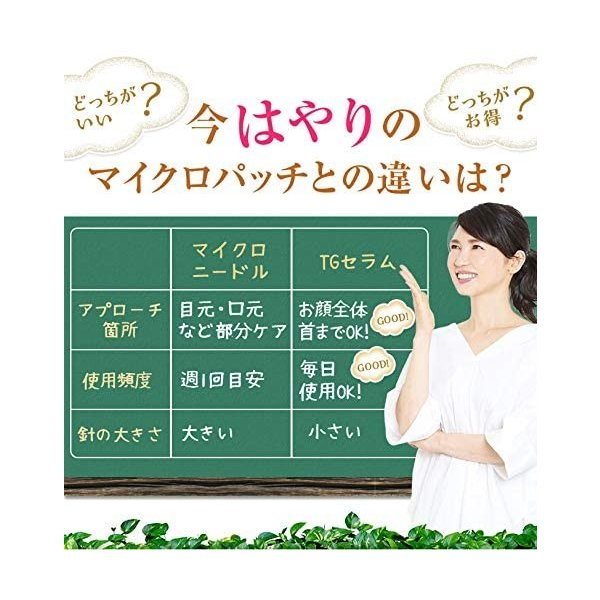 TGセラム(ティージーセラム)日本製話題のマイクロニードルが顔全体に使えるクリーム ほうれい線 シワ 美肌 future-ability 06