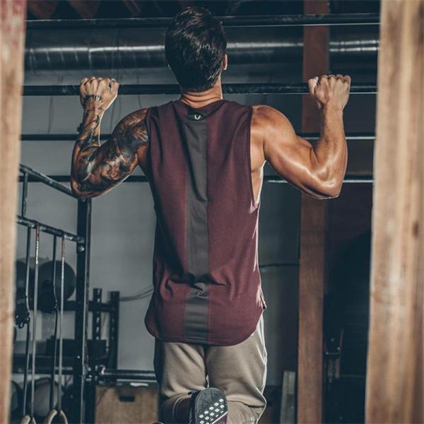 Manatsulife タンクトップ メンズ tシャツ トレーニングウェア 筋トレ トップス 速乾 ジム インナー ノースリーブ フィットネス スポーツ お洒落 夏 BX20|futurelife|14