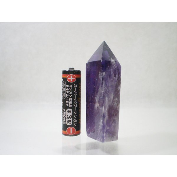 アメトリンポイント(六角柱)アメジスト(紫水晶)の中にシトリン(黄水晶)が入った天然石