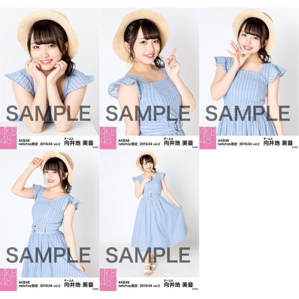 向井地美音 生写真 AKB48 2019年04月 vol.2 個別 5種コンプ fuwaneko