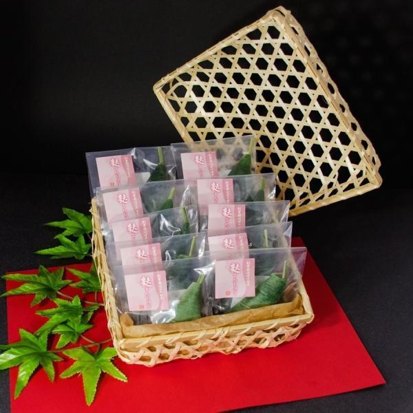 【贈答用】竹カゴ入り 生麩屋の麩まんじゅう(紀州梅あん) 10個セット|fuyamanshop