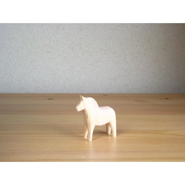 グラナス ダーラナホース Grannas Dalahorse 7センチ 木製 ダーラヘスト ナチュラルウッド 馬 ハンドメイド