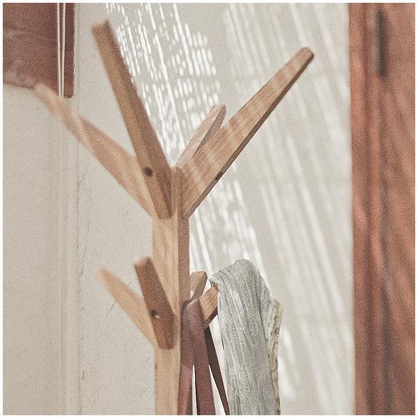 ポールハンガー 木製 おしゃれ スリム 北欧 コートハンガー スリム ハンガーポール g-balance 02