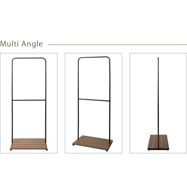 ハンガーラック スリム おしゃれ 木製 収納 スチール アイアン コートハンガー 北欧 モダン|g-balance|09
