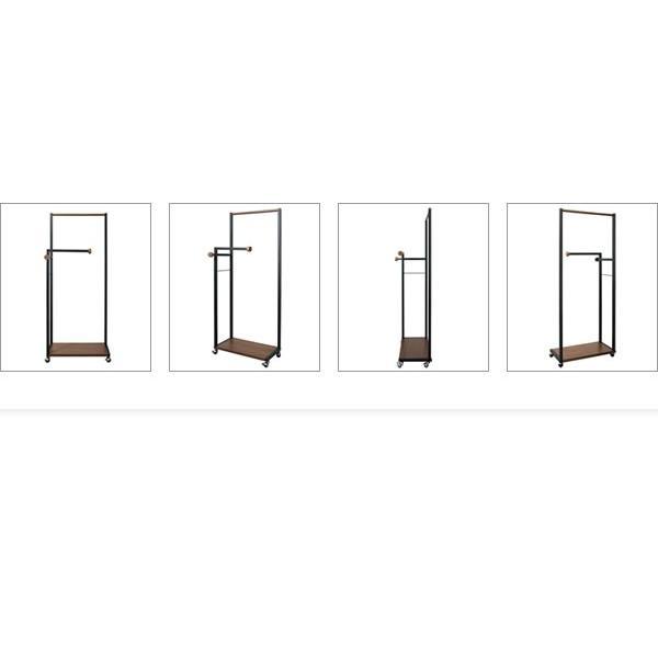 ハンガーラック スリム おしゃれ キャスター付き 収納 木製 アイアン スチール コートハンガー 北欧|g-balance|13