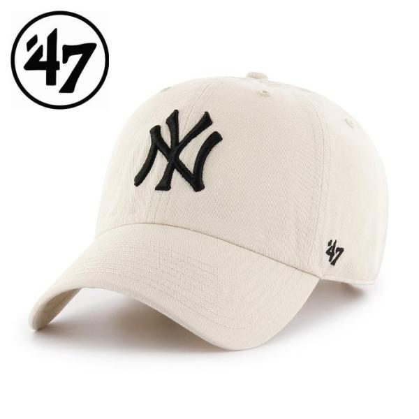 Yankees'47 CLEAN UP Natural 47 フォーティーセブン メンズ レディース 野球 メジャー ヤンキース メジャーリーグ 帽子 プレゼント ニューヨーク