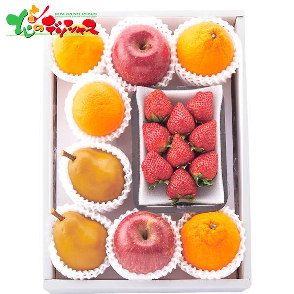 ちょっと贅沢な冬の果物 2021 冬ギフト お歳暮 お年賀 ギフト 贈り物 お礼 お返し 果物 フルーツ りんご いちご 旬 季節 詰め合わせ 送料無料 お取り寄せ