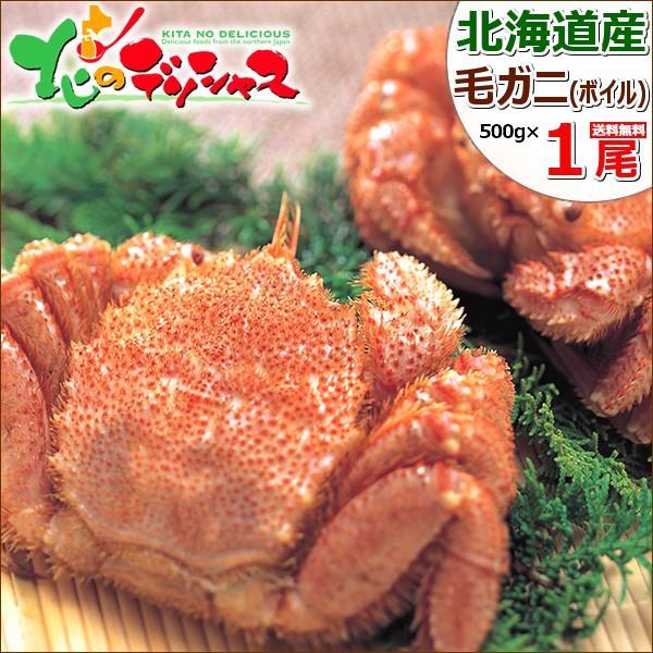 カニ 北海道産 毛ガニ 1尾 500g (姿/ボイル冷凍) 毛がに 毛蟹 かにみそ ギフト 贈り物 訳あり じゃありません 北海道 グルメ 送料無料 お取り寄せ