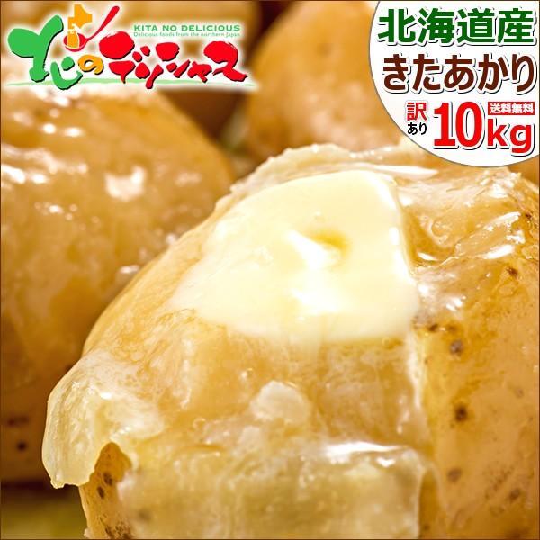 北海道 じゃがいも 訳あり キタアカリ 10kg Lサイズ 北海道産 きたあかり 新じゃがいも 馬鈴薯 秋野菜 野菜 グルメ 送料無料 お取り寄せ|g-hokkaido