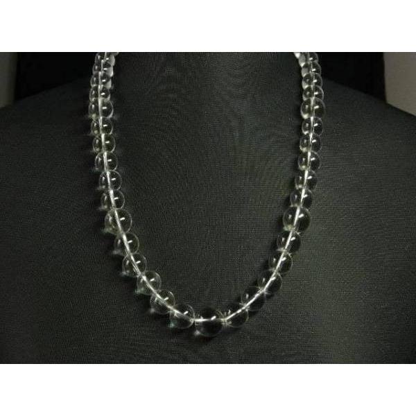 天然石ネックレス 天然本水晶ネックレス12ミリ玉50センチ〜70センチ