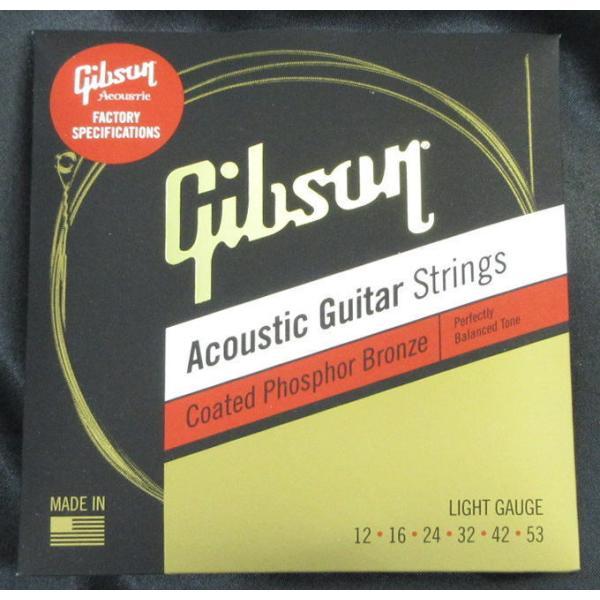 Gibson SAG-CPB12 CoatedPhosphorBronzeAcousticGuitarStringsLIGHTS