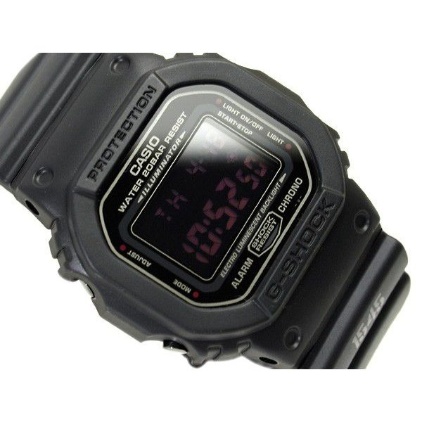 G-SHOCKGショックジーショックg-shockgショックマットブラックレッドアイDW-5600MS-1腕時計G-SHOCKG