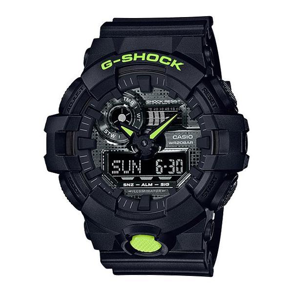 G-SHOCKGA-700DC-1ABlackandYellow逆輸入海外モデルアナデジメンズ腕時計CASIOカシオGショックジ