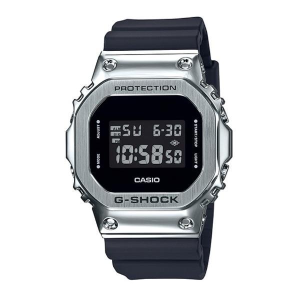 G-SHOCKGショックジーショック5600メタルカシオCASIOデジタル腕時計ブラックシルバーGM-5600-1JF国内正規モ