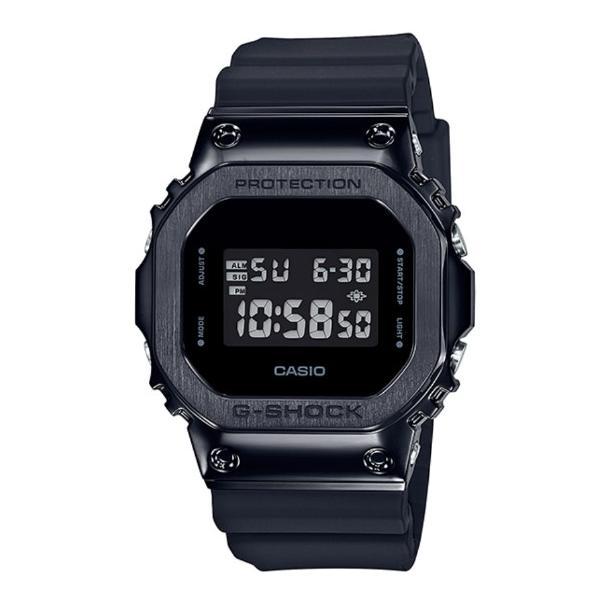 G-SHOCKGショックジーショック5600メタルカシオCASIOデジタル腕時計オールブラックGM-5600B-1JF国内正規モ