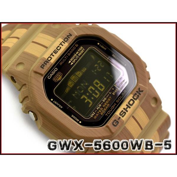 dbd22c69d4 G-SHOCK Gショック ジーショック G-LIDE Gライド 逆輸入海外モデル カシオ CASIO 電波 ソーラー デジタル 腕時計 ブラウン  GWX-5600WB-5