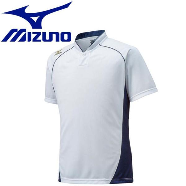 ミズノ 野球 グローバルエリート ベースボールシャツ ハーフボタン 小衿タイプ 12JC6L1114
