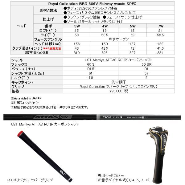 【送料無料】 ロイヤルコレクション BBD 306V フェアウェイウッド ATTAS RC IP カーボンシャフト|g-zone|04