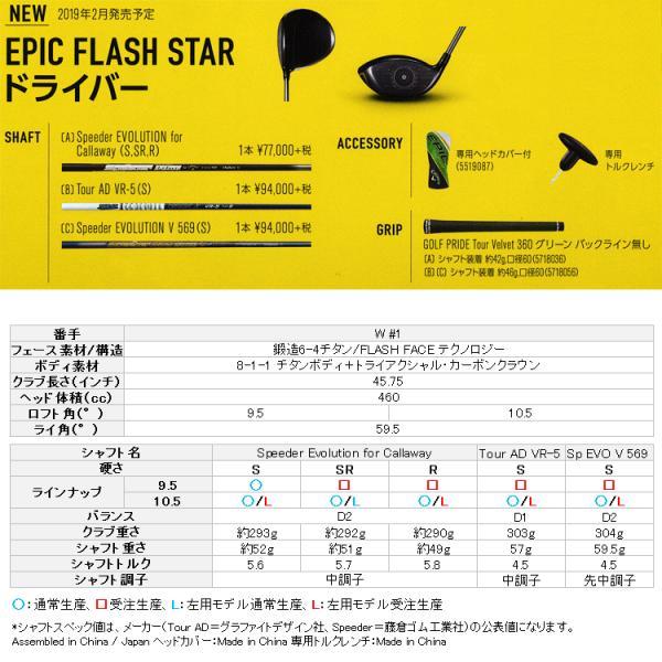 【期間限定】 キャロウェイ エピック フラッシュ スター ドライバー 日本仕様 2019年モデル EPIC FLASH|g-zone|04