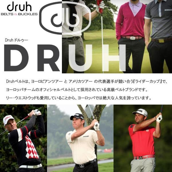 ドゥルー ハイエンドモデル ツアーコレクション クロコ ベルト 2バックル Druh ゴルフウェア メンズ 日本正規取り扱い品 g-zone 02