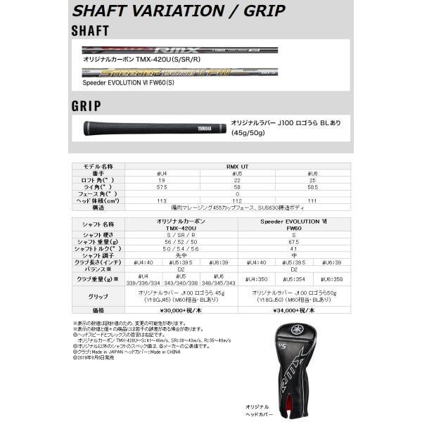 【期間限定】 ヤマハ RMX UT ユーティリティ オリジナル TMX-420U カーボン 2019モデル 日本仕様 g-zone 05