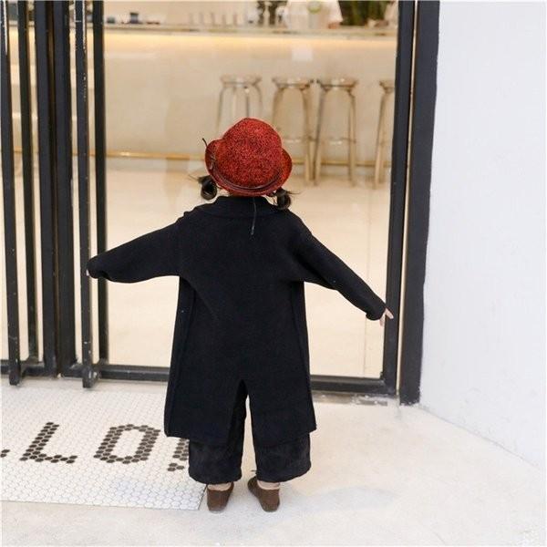 ダウンコート子供服女の子ダウンコート長袖アウター付きロングキッズ服防寒秋冬