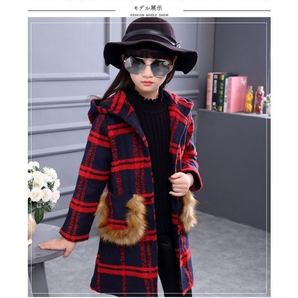 韓国子供服アウター女の子ダッフルコートキッズアウター長袖秋冬暖かい防寒