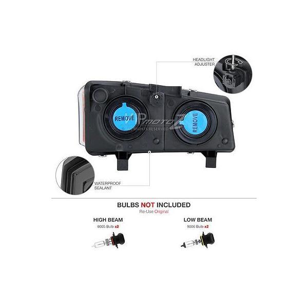 カー用品 パーツ ヴェノムインク 03-06 シルバラード 2500Hd スモーク レッド テール ランプ バンパー ランプ ハイ ストップ ヘッドライト ga-imp 04