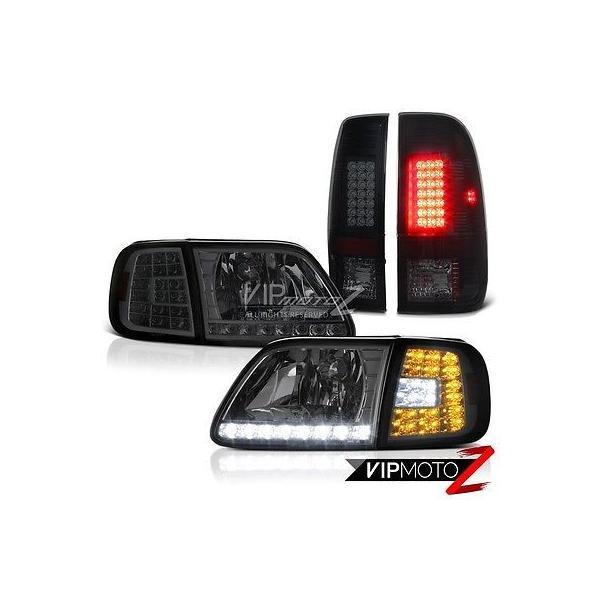 97 98 99 00 01 02 03 Ford F150 Headlights Corner Rear Signal Brake Tail Lights