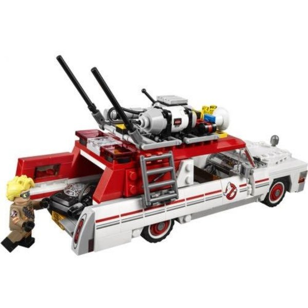 Lego 75828 ecto-1 and 2 Ghost busters 6 minifigures car motor cycle