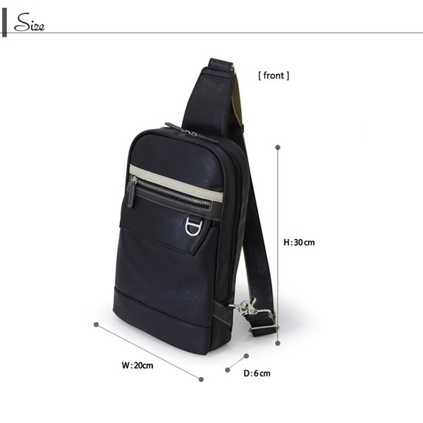 LINA GINO リナジーノ ボディバッグ ボデーィバック  大容量ワンショルダー 10inchタブレットを持ち運べる 4色カラー |gacha-com|03
