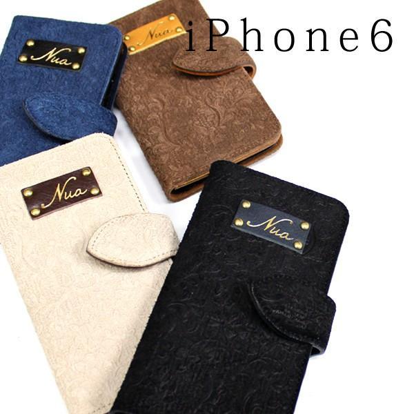 Nua ヌア iphone6s アイフォン 携帯 手帳型 スマホケース 手帳型 カバー 本革 4色展開|gacha-com