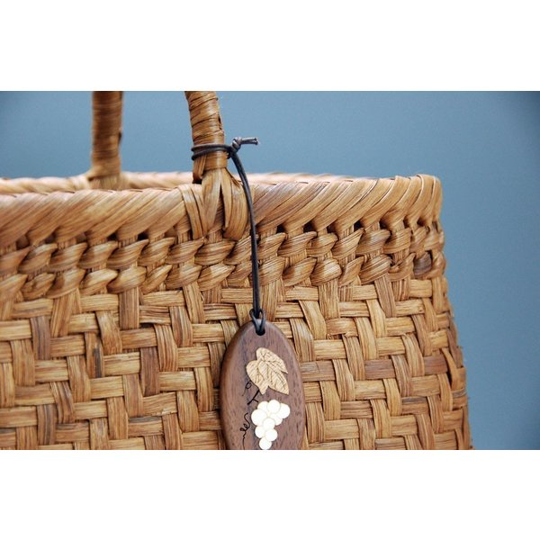 山ぶどう やまぶどう籠 山葡萄かごバッグ かごバック カゴ 籠 バッグ 削皮 大サイズ|gacha-com|04