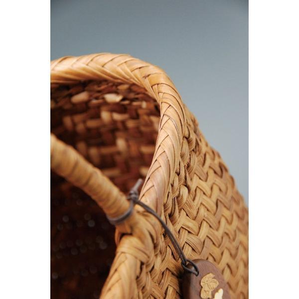 山ぶどう やまぶどう籠 山葡萄かごバッグ かごバック カゴ 籠 バッグ 削皮 大サイズ|gacha-com|06