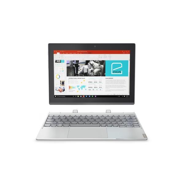 LENOVO 80XF0007JP ノートパソコン Ideapad (アイデアパッド )MIIX 320 プラチナシルバー [10.1型 /intel Atom /eMMC:64GB /メモリ:4GB /2017年5月モデル]の画像