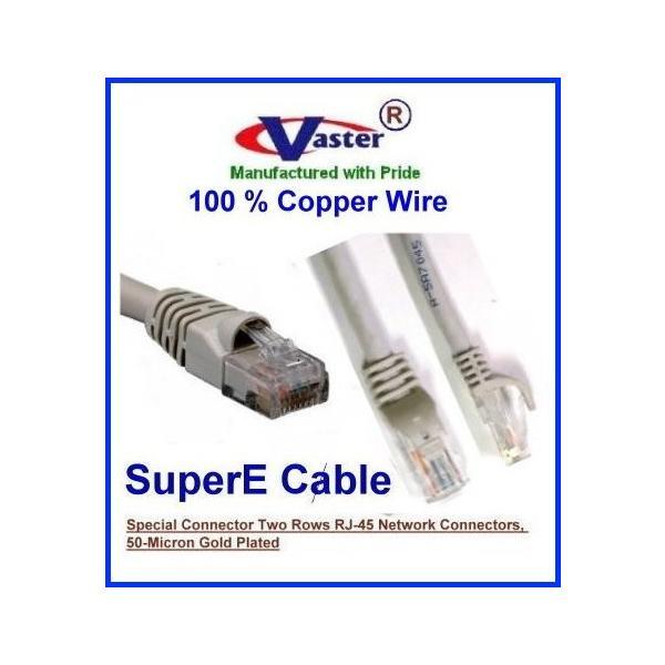 70 Ft UTP CAT6 Gigabit Patch Cable VasterCable Cat.6 Cable Black Color