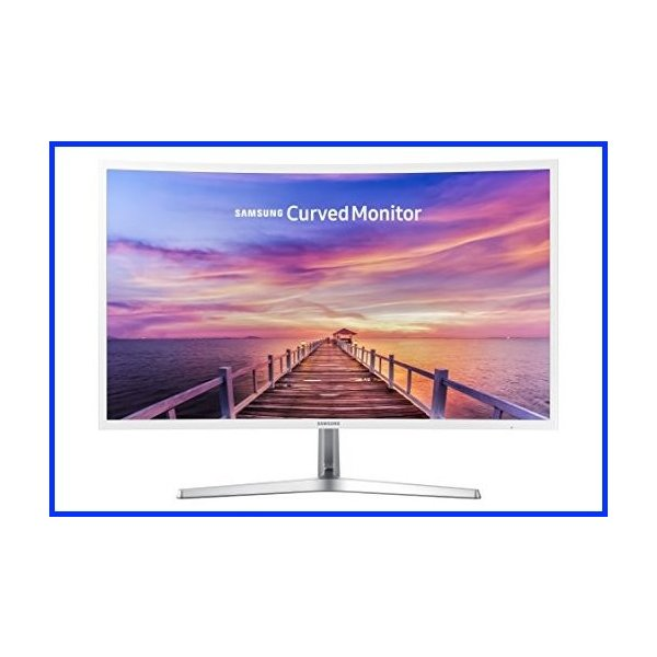 New Samsung 32 Full HD Curved Screen LED TFT LCD Monitor Glossy White MagicBright FreeSync Technology Eco Saving Plus Eye Saver VGA HDMI