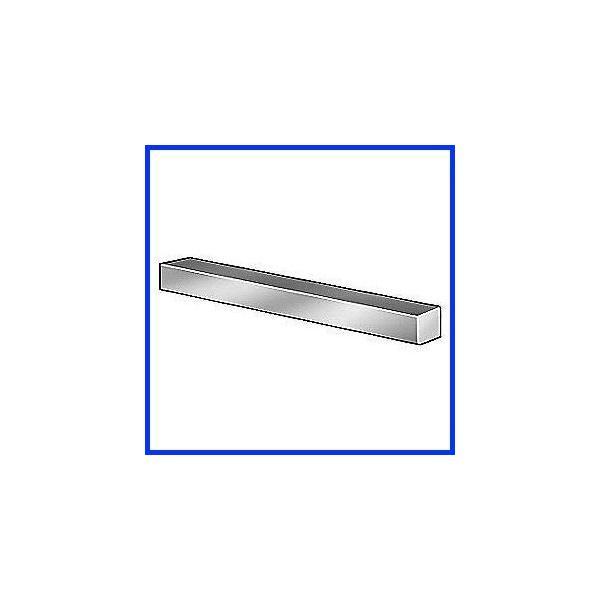 GRAINGER APPROVED 316 Stainless Steel Keystock,Under,12 in L,14 x 14mm WWG801414305