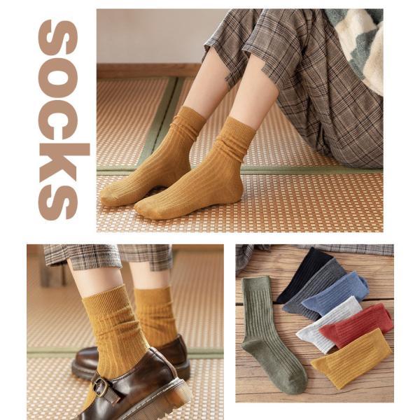 靴下レディースソックスレッグウェア四季適用綿無地可愛い通気柔らかい快適ソックスカラフル