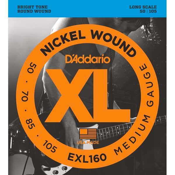D'addario/ベース弦 XL Nickel Round Wound【ダダリオ/EXL160・EXL165・EXL170・EXL180・EXL190・EXL220・EXL230】【メール便OK】