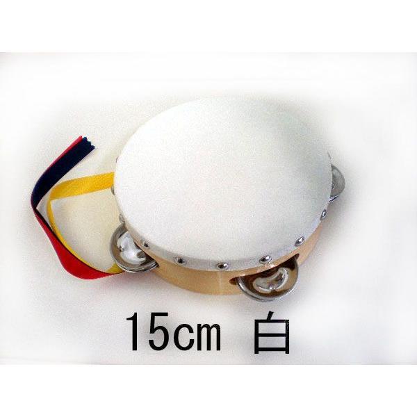 ヤマヨ タンバリン [タンブリン] 15 cm  [白] [タンバリンなら、やっぱり定番ヤマヨのタンバリン]|gakki-mori