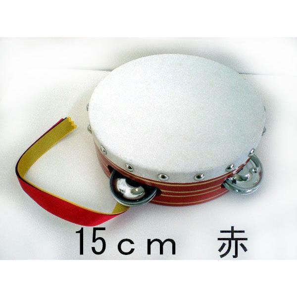 ヤマヨ タンバリン [タンブリン] 15 cm  [赤] [タンバリンなら、やっぱり定番ヤマヨのタンバリン]|gakki-mori