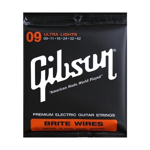 Gibson(ギブソン)  エレキギター弦 BRITEWIRESSEG-700UL