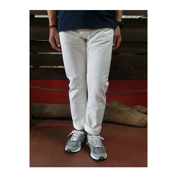 orslow (オアスロウ) 01-0107-69 Mens IVY FIT JEANS ONE WASH アイビーフィットジーンズ ホワイトデニム Made in Japan|gaku-shop