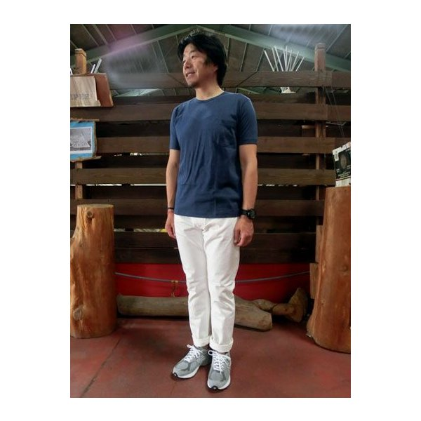 orslow (オアスロウ) 01-0107-69 Mens IVY FIT JEANS ONE WASH アイビーフィットジーンズ ホワイトデニム Made in Japan|gaku-shop|06