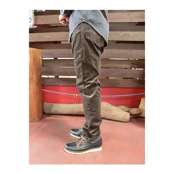 orslow (オアスロウ) 01-0107-C53 Mens IVY FIT PANTS  アイビーフィットパンツ ブラウン コーデュロイ Made in Japan|gaku-shop|02