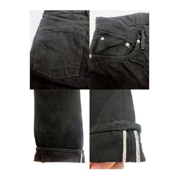 orslow (オアスロウ) 01-0107-61 Mens IVY FIT JEANS BLACK アイビーフィットジーンズ ブラック Made in Japan|gaku-shop|04