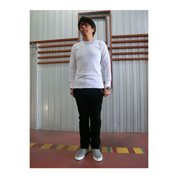 gicipi(ジチピ)(Italy) CANOVACCIO GIRO  M/L サーマル素材クルーネック長袖 イタリア製 BIANCO ホワイト|gaku-shop|02